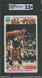 1976-77 Topps Basketball #126 Kareem Abdul-Jabbar All-Star HOF SGC 3.5 VG+