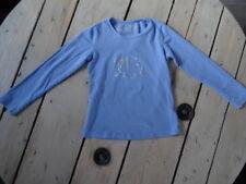 T-shirt manches longues bleu motif fillette en strass KIDS GRAFFITI T 4-5 ans