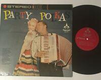Party Polkas Accordion Vinyl Record Folk World Country Music Beer Barrel Polka