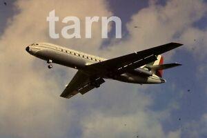 35mm slide aeroplane airplane London  Heathrow  DC10 Alitalia 1960s r195