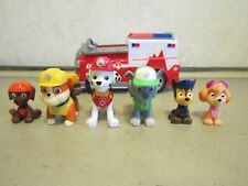 Lot of 6 Paw Patrol Action Figures & 1 Vehicle