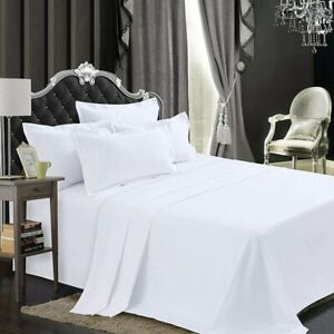 800 Thread Count 100% Pure Egyptian Cotton Flat Sheet King & Super King Size