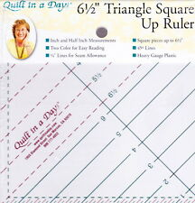 "6.5"" Triangle Square Up ruler - easy to use, no math cutting"