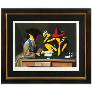 MARK KOSTABI signed original serigraph CHANCE ENCOUNTER large FRAMED COA 2001