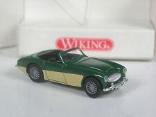 Rare: série wiking modèle Austin Healey 3000 vert foncé-crème en OVP