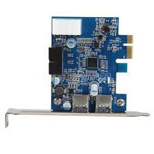 USB 3.0 2-port 19-pin Header PCI-E Card 4-pin IDE Power Connector #Cu3