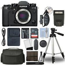 Fujifilm X-T3 Mirrorless 26.1Mp 4K Fuji X T3 Digital Camera Black + 32Gb Bundle