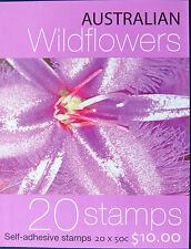 Australian Stamps: 2005 - Australian Wildflowers Booklet 20 x 50c