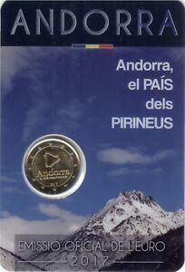Sondermünzen Andorra: 2 Euro Münze 2017 das Land in den Pyrenäen Sondermünze