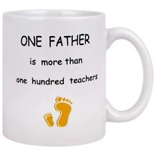 Funny Coffee Mugs Dad�S Mugs Father Is More Than One Hundred Teachers Coffee ...