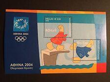 GREECE 2003 OLYMPIC GAMES MASCOT Miniature Sheet Vlastos B32 CV $15  MNH