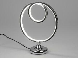 Wunderschöne LED Tischlampe Lampe Tischleuchte mit LED Lichtband 32x26,5 cm