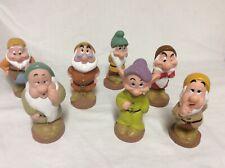 Vintage Disney Snow White 'S Seven Dwarfs Figures Vinyl Approx.5�