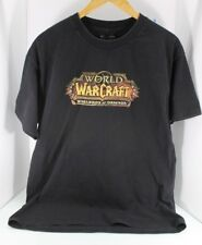 World Of Warcraft Warlords Of Draenor T-Shirt Large Great Faded Black Look