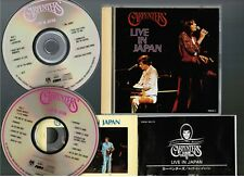 CARPENTERS Live In Japan JAPAN 2CD w/INSERT POCM-1821~2 1993 reissue Free S&H/PP