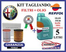 KIT TAGLIANDO FILTRI + OLIO REPSOL 5W30 5LT ALFA GIULIETTA 1.4 TB