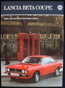 LANCIA Beta Coupé Italian Police Telephone Booth 9x12 Orig 1980 Ad Advert SHARP
