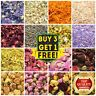 50g Dried Flowers & Dry Petals 61+ Types! Bath Craft Soap Candle Cake Decor Tea