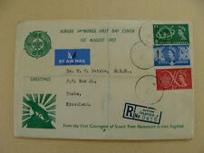 More details for rare 1957 world jamboree fdc registered nyasaland scouts