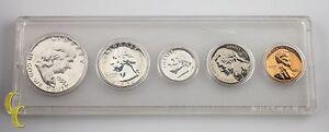 1956 US Proof Set Franklin Washington Jefferson Roosevelt Lincoln 5 pc Coins