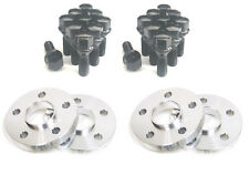 4 15mm Hub Centric Wheel Spacers 5x112 Mercedes 14x1.5 Black Lug Bolts 5 x 112