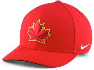 2018 Team Canada Hockey IIHF Olympics Wool Classic Adjustable Cap Hat Red