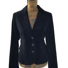 NEW Ann Taylor LOFT 8 Medium Classic Black Velvet 3 Pocket Blazer Trendy Jacket