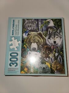 300 piece puzzle (North American Endangered Species) Bits and pieces