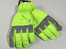 ROTHCO HIGH VISIBILITY SAFETY GREEN WATERPROOF GLOVES WITH REFLECTIVE TAPE LARGE
