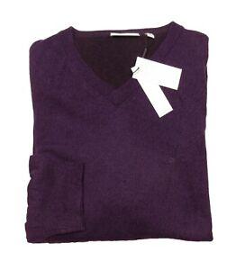 Calvin Klein Big & Tall Men's Purple V-Neck Pullover Sweater