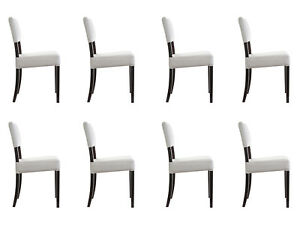 8x Chairs Chair Pads Design Lounge Club Seat Lehn Set Armchair Neu