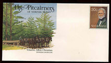 Norfolk Island Charles Allen Christian Pre-stamped Cover Unused #C14040