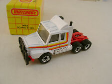 1983 MATCHBOX SUPERFAST #8 MB8 WHITE SCANIA T-142 TRACTOR TRUCK NEW IN BOX