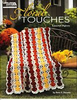 Floral Touches Crochet Afghans | Leisure Arts 4773 NEW!
