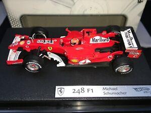 1:43 Hotwheels J2967 Michael Schumacher Ferrari 248 F1 - Marlboro Livrée 2006