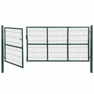 AX Cancello Recinzione Paletti Acciaio Verde Patio Ingresso Giardino News 142571