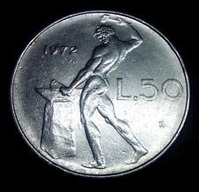 Moneta Coin ITALIA Repubblica Italiana 50 Lire Vulcano 1972