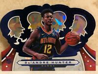 2019-20 Crown Royale Crystal Blue #49 De'Andre Hunter RC /99 HAWKS ROOKIE