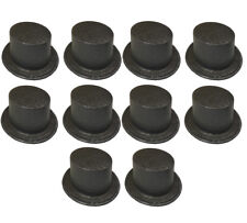 10 x Black Top Hats Glitter Covered Sparkle Plastic Toppers Stag Hen Nights QR25