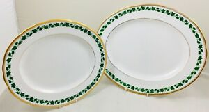 Tuscan - Green Ivy - 2 x graduated platters - 38.5cm and 33.5cm
