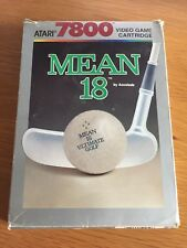 Atari 7800 Mean 18 Golf Boxed With Manual Gwo