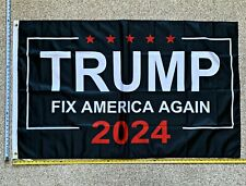 Donald Trump Flag Free Shipping 2024 Don Jr Fix America Again Sign Poster 3x5'