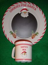 "Christmas~child's~20 13/Santa'S/Message/Pl ate/w/Cup/Set! ""euc"" @ Really/Cute!"