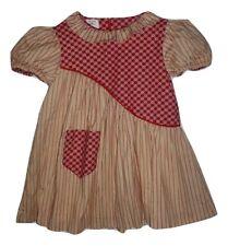 Handmade Valentine's Day Girls Red Heart Print Striped Dress 5-6 Jetua Nielsen