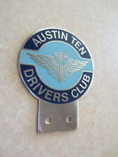 Vintage Austin Ten Drivers Club car badge