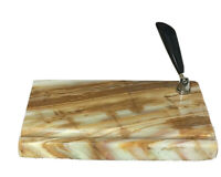 Vintage Fountain Pen Desk Base / holder  / rest Orange Marble square