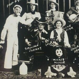 Arizona Kid His Texas Rangers Cowboys Cowgirls Mickey Mouse Popeye Postcard G1