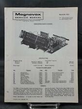 Magnavox Repair Service Parts Manual For 1974 R280 Series Radio Chassis