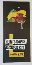 Vintage Flintstones Bedrock City Tourist Attraction, Custer, S. Dakota Brochure