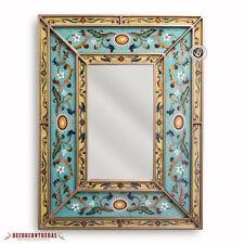 Peruvian Decorative Mirror- Art Crafts Mirror Wall -Vanity mirror- Painted glass